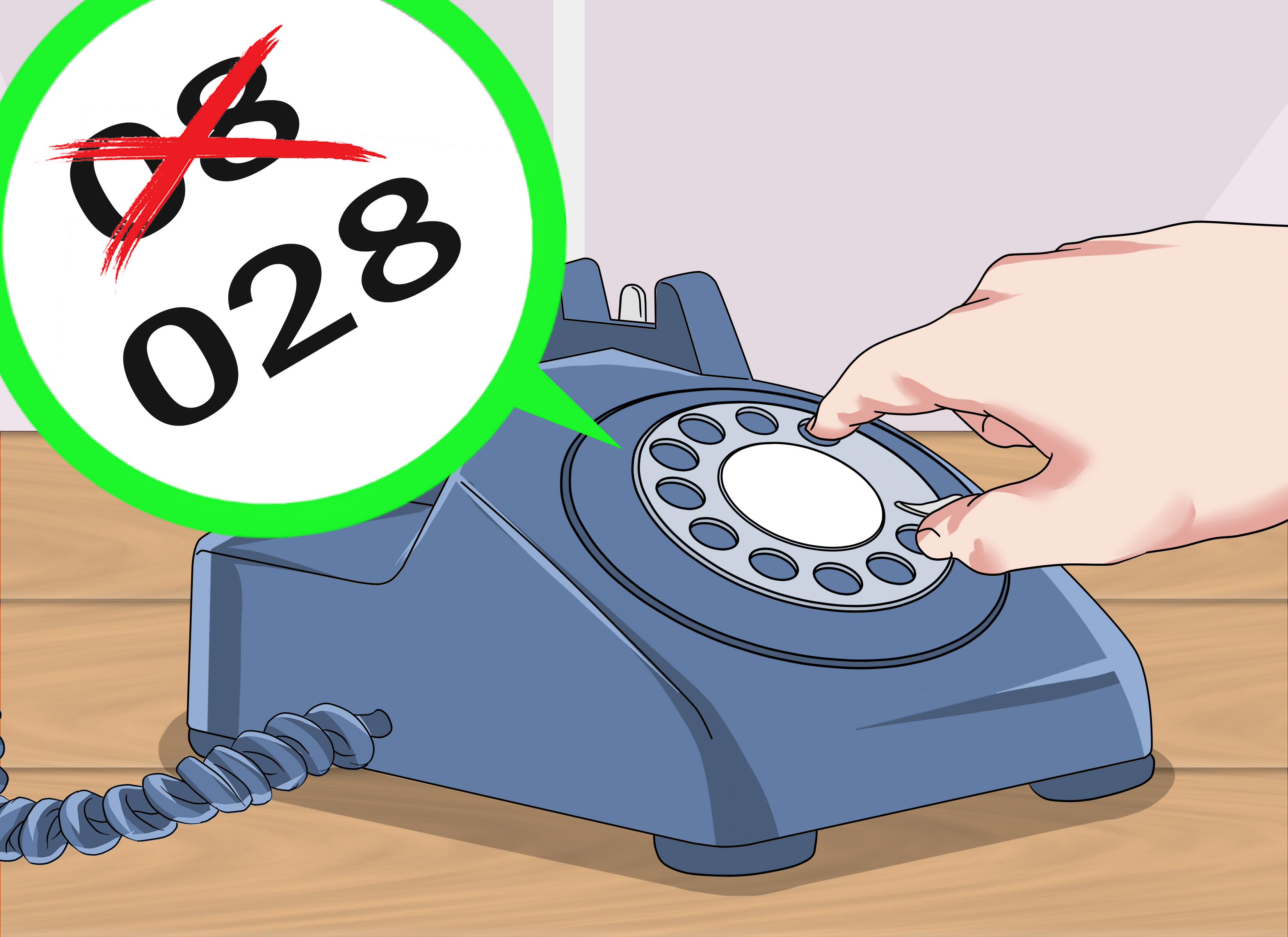 Thông báo thay đổi số vùng điện thoại