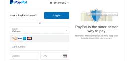 Hướng dẫn đăng ký dịch vụ mới và thanh toán trực tuyến bằng Paypal