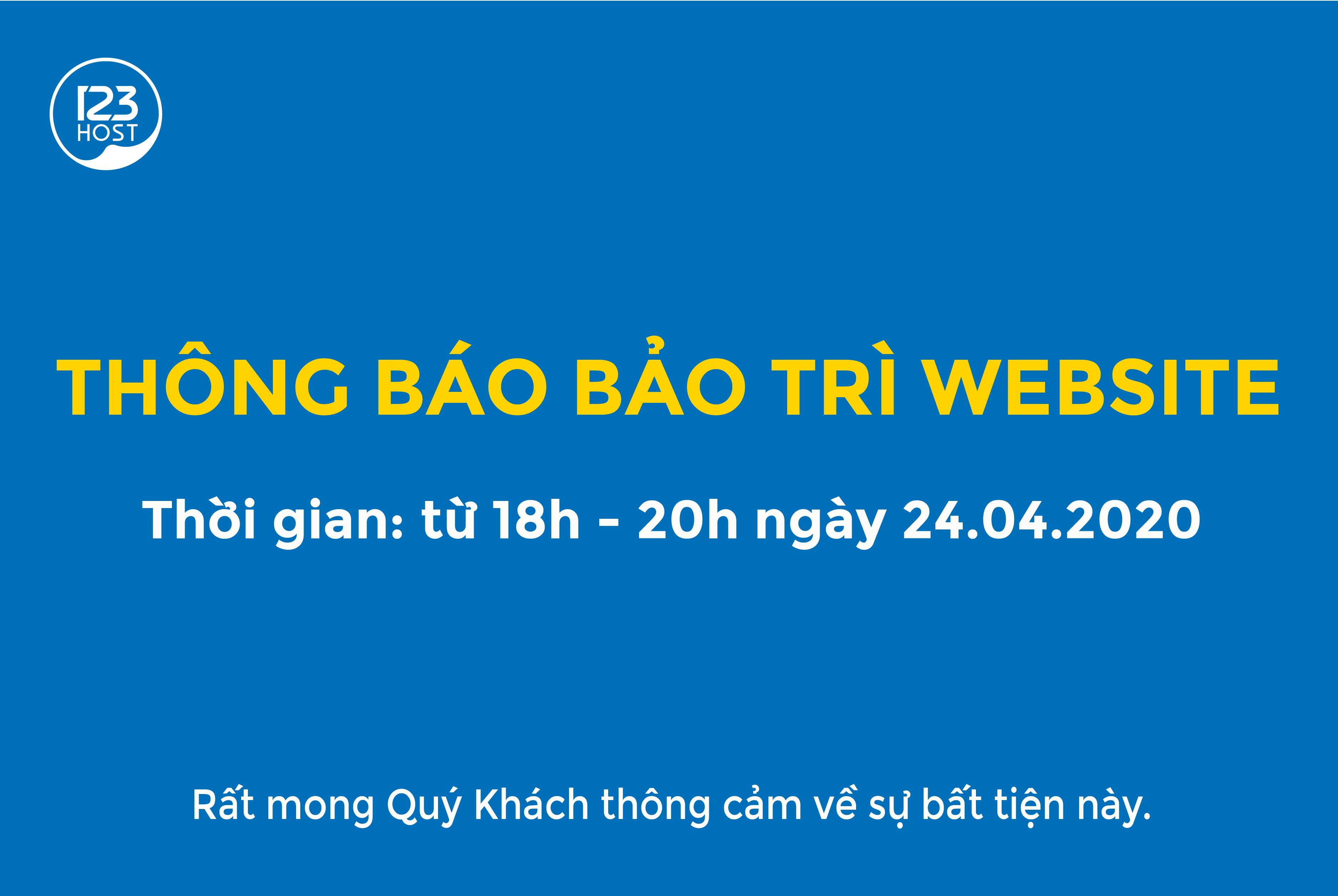 THÔNG BÁO BẢO TRÌ WEBSITE