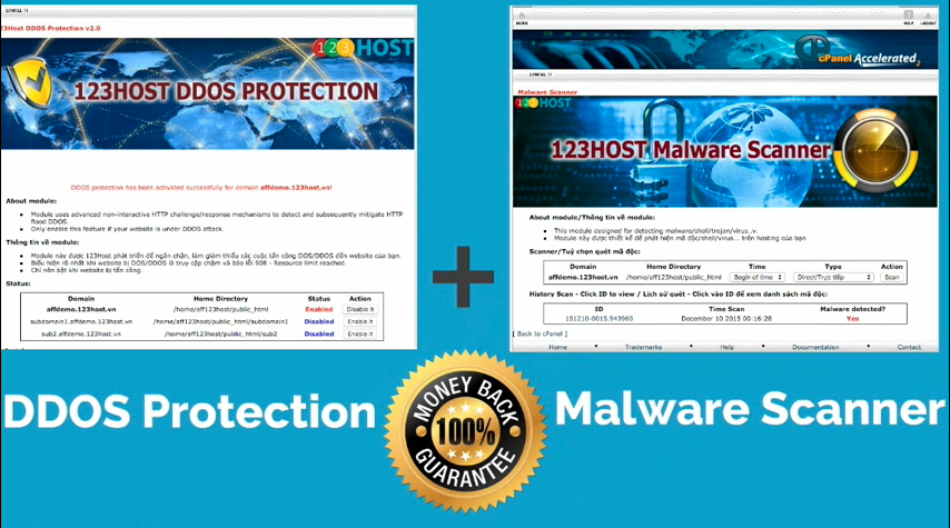 cPanel-ddos-protection-malware-scanner